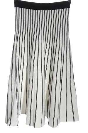 Maje Spódnica midi biały-czarny Wzór w paski W stylu casual
