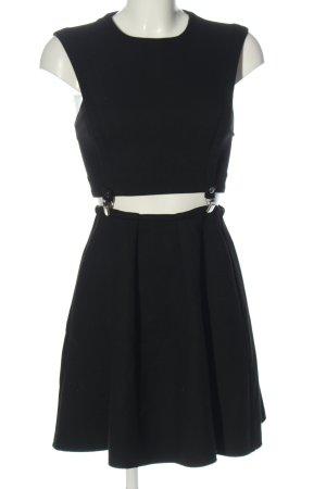 Maje Mini Dress black striped pattern casual look