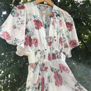 Maje PARIS  Blumen Maxikleid/ mit Unterkleid  Gr. 1  S / 36