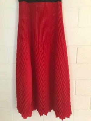Maje Plaid Skirt brick red