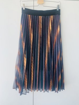 Maje Pleated Skirt multicolored mixture fibre