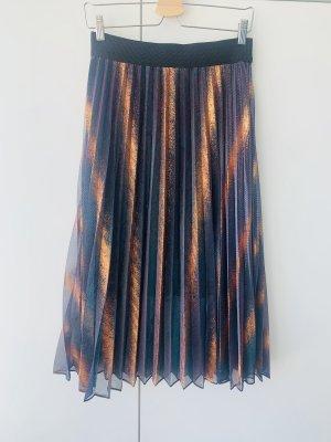 Maje Jupe plissée multicolore tissu mixte