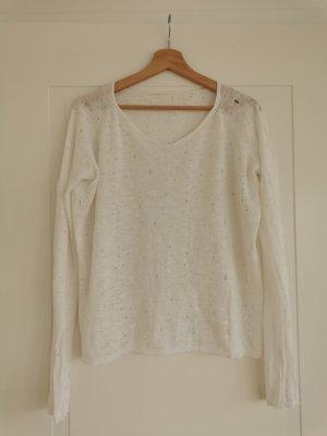 Maje V-Neck Sweater white