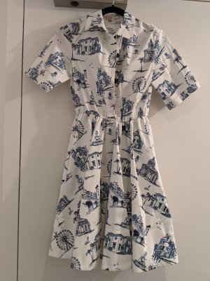 MAJE Rapomi Paris City Print Baumwollkleid