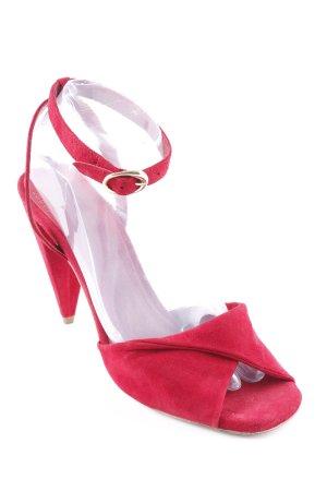 Maje Riemchen-Sandaletten dunkelrot Elegant