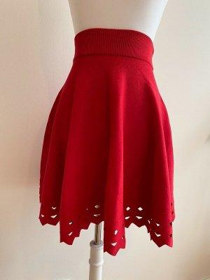 Maje Skater Skirt red-dark red viscose