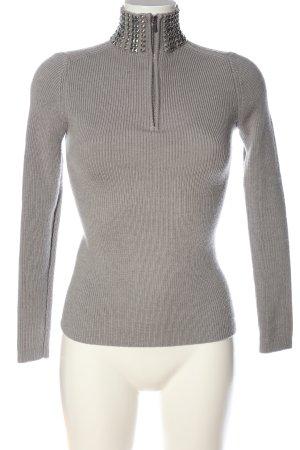 Maje Sweter z golfem jasnoszary W stylu casual