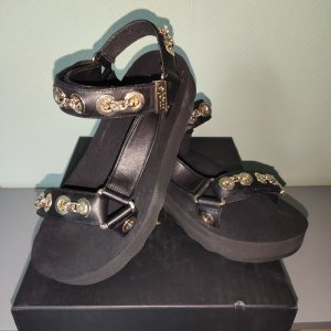 Maje Sandalen schwarz gold 37 neu