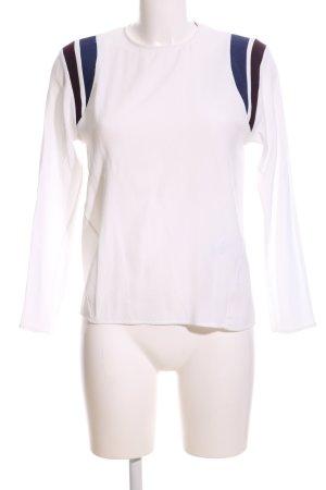 Maje Blusa caída blanco-azul estampado a rayas look casual