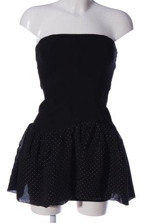 Maje schulterfreies Kleid schwarz Elegant
