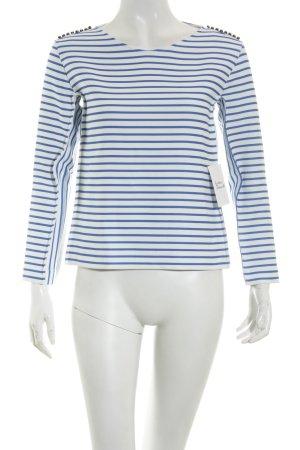 Maje Shirt blau-weiß Streifenmuster Elegant