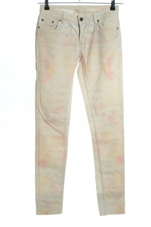 Maje Skinny Jeans creme-pink Allover-Druck Casual-Look