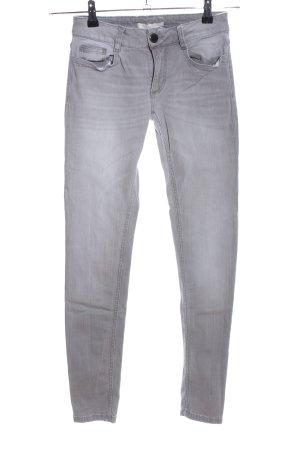 Maje Skinny Jeans hellgrau Casual-Look