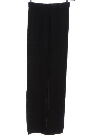 Maje Gebreide rok zwart casual uitstraling