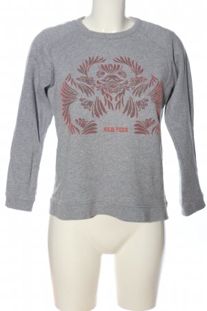 Maje Sweatshirt hellgrau-rot meliert Casual-Look