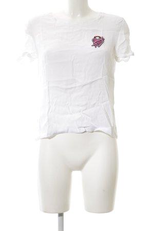 Maje T-Shirt Schriftzug gestickt Casual-Look