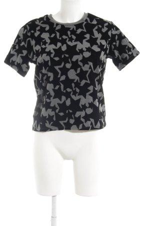 Maje T-Shirt schwarz-dunkelgrau Casual-Look