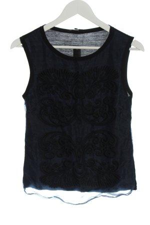 Maje Tank Top blue-black casual look