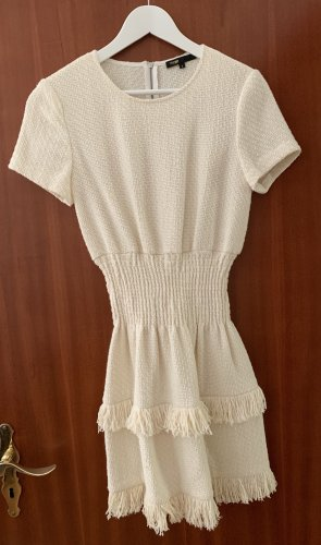 Maje Fringed Dress natural white
