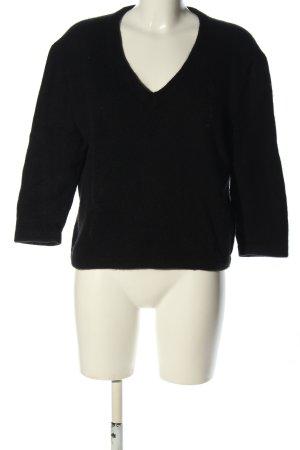 Maje V-Ausschnitt-Pullover schwarz Casual-Look