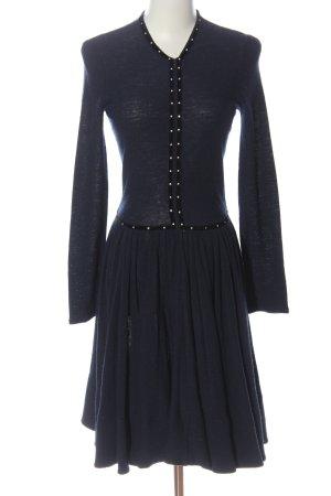 Maje Vestito di lana blu-nero stile casual