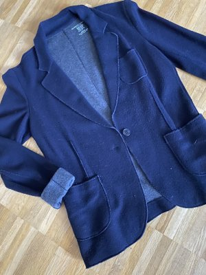 Majestic Blazer in lana antracite-blu scuro