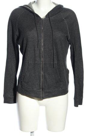 Majestic Filatures Hooded Sweatshirt light grey flecked athletic style