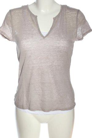 Majestic T-shirt grigio chiaro puntinato stile casual
