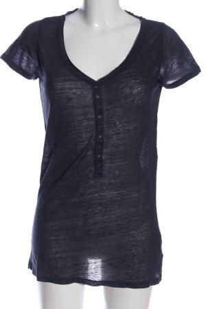 Majestic T-Shirt schwarz meliert Casual-Look