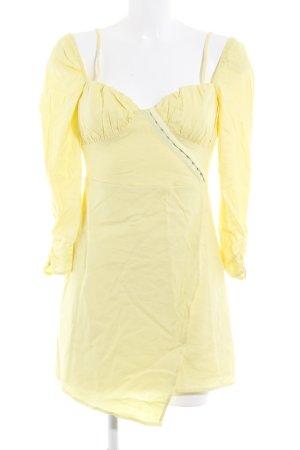 Majorelle Bustierkleid blassgelb Textil-Applikation