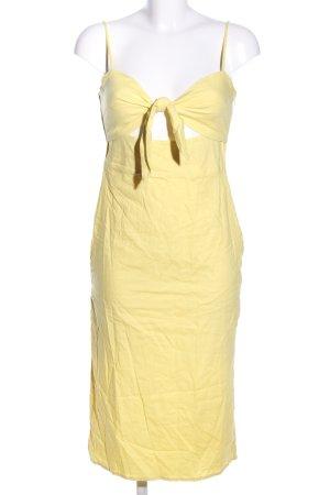 Majorelle Cut-Out-Kleid blassgelb Elegant