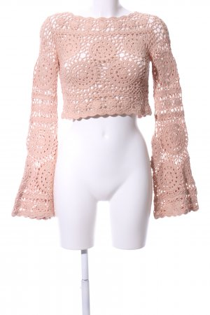 Majorelle Gehaakt shirt roze grafisch patroon elegant