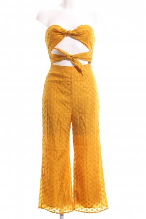 Majorelle Jumpsuit goldorange-dunkelgelb Street-Fashion-Look