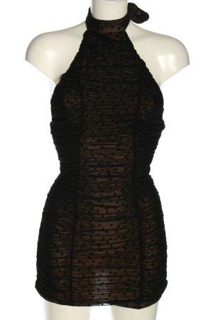 Majorelle Sukienka z dekoltem typu halter czarny-nude Nadruk z motywem Elegancki