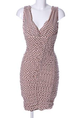 Majorelle Tube Dress nude-black spot pattern elegant