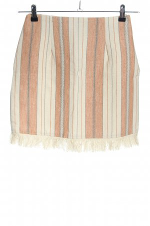 Majorelle Tweed Skirt striped pattern simple style