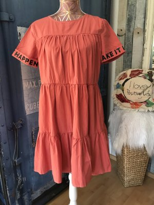 Hippie Dress russet-salmon cotton