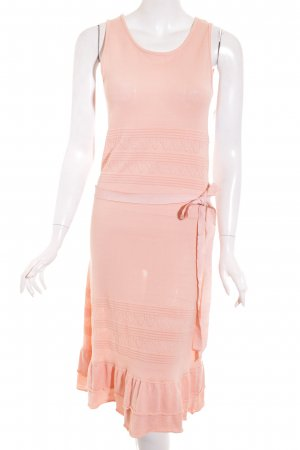 Makena Lei A-Linien Kleid rosa Bänderverzierung