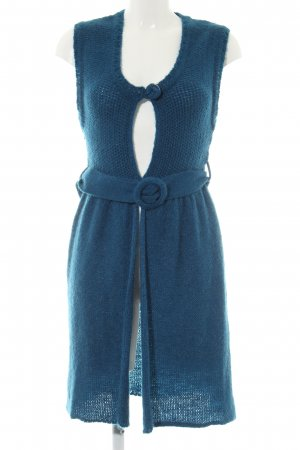 Makena Lei Short Sleeve Knitted Jacket blue casual look