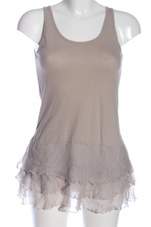 Makena Lei Frill Top natural white casual look