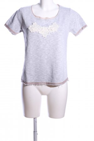 Makena Lei T-Shirt hellgrau meliert Casual-Look