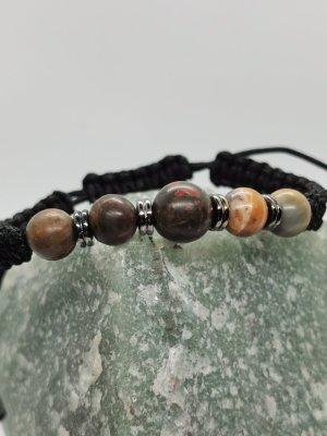 Makramee Armband mit Halbedelsteinen (verstellbar)