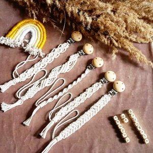 handmade Porte-clés blanc cassé