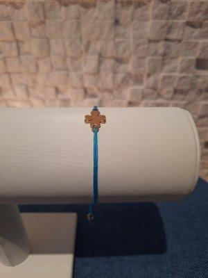 Makrameearmband Glückskleeblatt