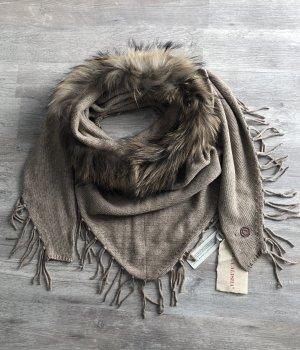 Mala Alisha Sciarpa lavorata a maglia talpa-beige