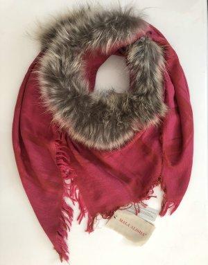 Mala Alisha Foulard rouge framboise-magenta