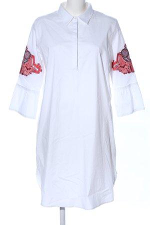 Mala Alisha Vestido tipo túnica blanco-rojo look casual