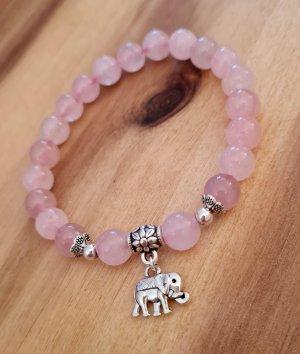 Mala Armband aus Rosenquarz Halbedelsteinen