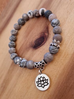 Mala Armband aus Zebra Achat