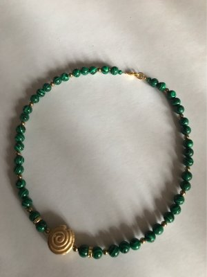 HANDMADE BY GERMANY Collier Necklace gold-colored-forest green